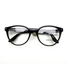 PRADA Eyeglasses Black 07TVF 1AB101 52-19-140 Brand New Authentic