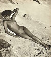 1950's Vintage Female Nude Asian Tamil Indian Model Jackson Photo Gravure Print