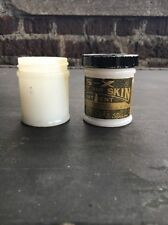 VINTAGE MILK GLASS MENTHOLATUM JAR S-X Feet and SKin Ointment St. Louis Medicine