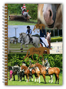 NEW A5 EQUESTRIAN DIARY HORSE PONY RIDER COMPETITION LOGBOOK DIARY 100 PAGES