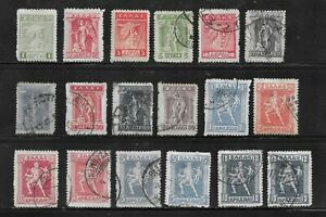 HICK GIRL- OLD USED GREECE STAMPS   VARIOUS  ISSUES         C20