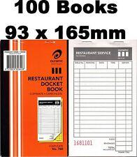 100 Olympic Restaurant Docket order books Duplicate Take away No762 #762 182642