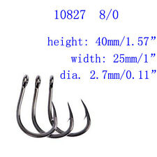 50pcs 10827 8/0 Stainless Steel SS Coated Ocean Livebait Fishing Hooks for Tuna
