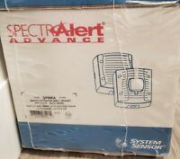 New Sealed 2-Pack SpectrAlert Advance SPWKA White Outdoor Evacuation Speakers
