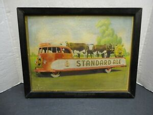 """""""Standard Ale"""" Cardboard Print Sign by Standard Brewing of Rochester, NY, 1940s"""