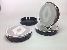 RENAULT Cache Moyeux Centres de Roue Alu Emblem 4p x 60mm/55mm  *NEUF*