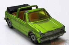 SIKU 1039 VW Golf GLS Cabrio mit offenem Verdeck in hell grün im Maßstab 1:55