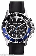 Michael Kors Everest Men's Black Dial Silicone Strap watch MK8365