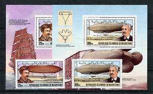 Mauretanien 795 + 796 Block 41 + 42 postfrisch / Zeppelin ................2/2128
