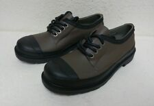 New Hunter Original Women's Derby Waterproof Olive/Black Lace-Up Shoes Sz 7