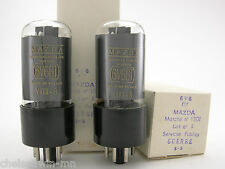 Mazda 6V6GT vacuum tube gray glass matched pair (2) AT1000 Tested