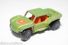 LESNEY MATCHBOX SUPERFAST 13 BAJA BUGGY MET. GREEN GOOD CONDITION