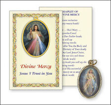 JESUS DIVINE MERCY PICTURE MEDAL & PRAYER CARD - STATUES CANDLES PICTURES LISTED