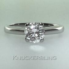 Diamond Round Ring 0.91ct Certificated D VVS1 VG Brilliant Cut set in Platinum