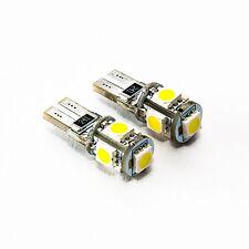 2 x LED T10 5 SMD XENON OPTIK KENNZEICHENBELEUCHTUNG TOYOTA SKODA VW CANBUS