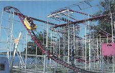 Wild Mouse Type Coaster, Quassy Amusement Park, Middlebury CT, Chrome Postcard