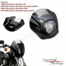 Front Fairing Cowl Headlight Windshield For Harley Davidson Dyna 95-05 XL 88-16