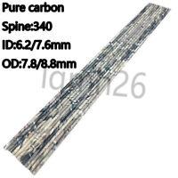 30'' pure carbon arrows shaft ID7.6/6.2 SP 340 for compound/recurve bow archery