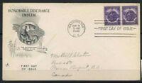 Stati Uniti 1946 Mi. 545 Primo Giorno 100% Stemmi
