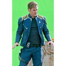 Star Trek Captain Kirk Blue Faux Men's Leather Jacket- All sizes