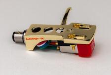 Gold Headshell, cartridge, stylus for Technics SL1000, SL1300, SL1301, SLQ2, ATR