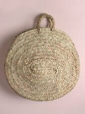 Large Round French Market Beach Basket Tote Shopper Seville Holiday Bag Storage