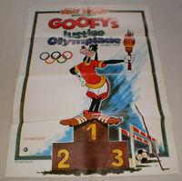 A1 Filmplakat ,GOOFY'S LUSTIGE OLYMPIADE, WALT DISNEY, ZEICHENTRICK