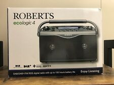 Roberts Ecologic 4 DAB RDS FM Digital Radio Black Excellent Condition