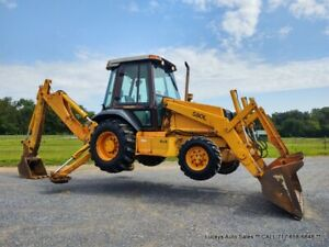 CASE 580L Backhoe Loader CAB & HEAT 75HP 4X4 VERY NICE Just Serviced I can Ship