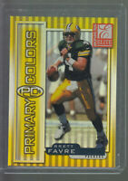 1999 DONRUSS ELITE PRIMARY COLORS BRETT FAVRE 1301/1875 GREEN BAY PACKERS HOF