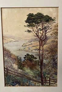 1902 FRAMED WATER COLOUR TITLED 'SALCOMBE ESTUARY' PAINTED BY EMILY ROSE STANTON
