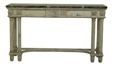 50347EC: COUNCILL CRAFTSMEN Marble Top Paint Decorated Console Table