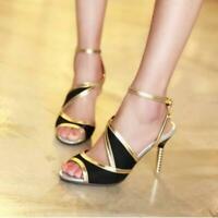 Chic Womens Open Toe Slingback Stilettos High Heel Sandals Party Dress Shoes