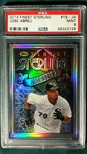 2014 TOPPS FINEST STERLING JOSE ABREU ROOKIE CARD #TS-JA PSA9 CHICAGO WHITE SOX
