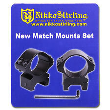 Nikko Rifle Scope MOUNTS 2 Piece 30mm Tube LOW Weaver Picatinny RIS Rail Ring