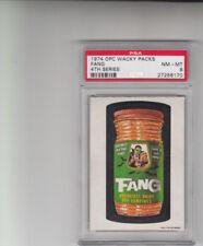 1974 OPC Wacky Packages Fang 4th Series PSA 8 POP 1 HIGHEST SUPER RARE BEAUTY