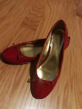 Ralph Lauren Women's red  Patent leather Flats shoes size US 8 B