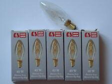 Ampoule Flamme filament zig zag EDISON claire GIRARD-SUDRON CROZE 40W E14 NEUVE