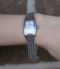 Lois Hill Sterling Silver Chain & Stainless Case Ladies Watch