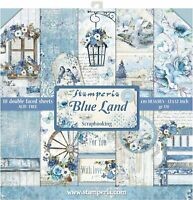 """Stamperia Double-Sided Paper Pad 12""""X12"""" 10/Pkg-Blue Land, 10 Designs/1 Each"""