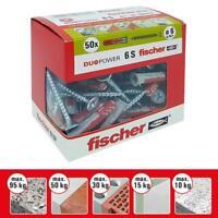 Fischer 50 Tasselli Duopower con Vite 6 x 30 mm per Muro pieno Mattone Forato...