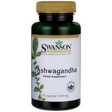 Swanson Ashwagandha 450mg x 100 Caps Stress & Fatigue Relief Free Ship to UK&EU