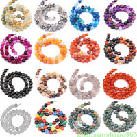 Wholesale Natural Mixed Gemstone Round Spacer Beads 4mm 6mm 8mm 10mm 12mm