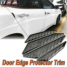Carbon Fiber Trim Sticker Car Door Edge Sill Protect Side Apron Protector Guard