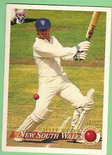 1994-95 FUTERA  CRICKET CARD  #40 STEVE WAUGH, NEW SOUTH WALES, DAMAGED