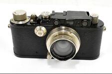 Vintage LEICA, pre-war black body camera, With Lens