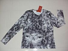 EQUUS: Size: 18-20. Stylish L/Sleeve, Black/White Slimming Print, Comfort Top