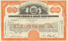 Utilities Power Light Corporation > 1931 Virginia stock certificate