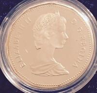 1987 CANADIAN DOLLAR - LOONIE - PROOF IN DISPLAY CASE