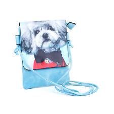 Poodle Dog Slim Cross body Flap Bag - Grey Pup